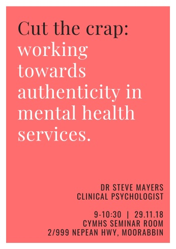 Cut the crap_working authentically in mental health services.-2
